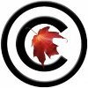 A maple leaf within the copyright symbol