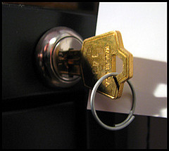 locked file cabinet key  (cc by laurelrusswurm)