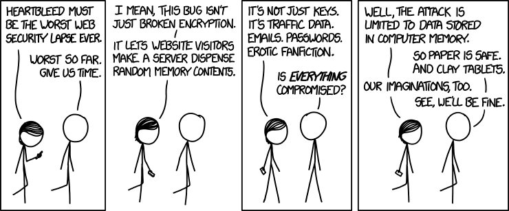XKCD: Heartbleed