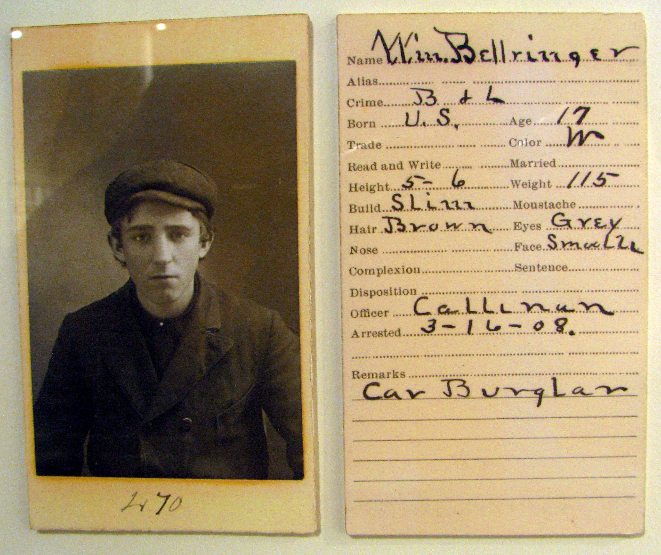 Will Bellringer 3-16-08 mugshot